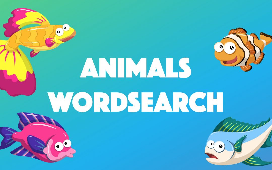 Animals that Swim Word-search